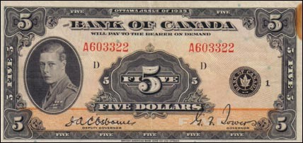 1935 Series - $5 Notes