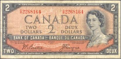 1954 Devils Face Series - $2 Notes