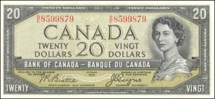 1954 Devils Face Series - $20 Notes