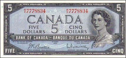 1954 Modified Series - $5 Notes