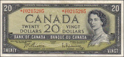 1954 Modified Series - $20 Notes