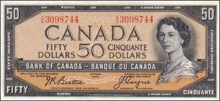1954 Modified Series - $50 Notes