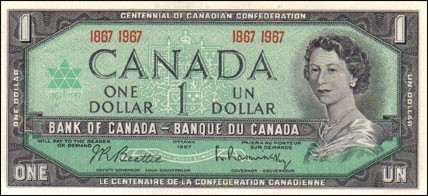 1967 Confederation Series - $1 Notes