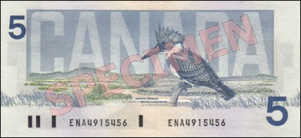Birds of Canada Series - $5 Notes