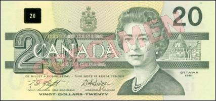 Birds of Canada Series - $20 Notes