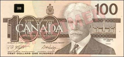 Birds of Canada Series - $100 Notes