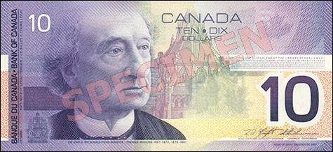 Canadian Journey Series - $10 Notes