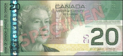 Canadian Journey Series - $20 Notes