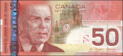 Canadian Journey Series - $50 Notes