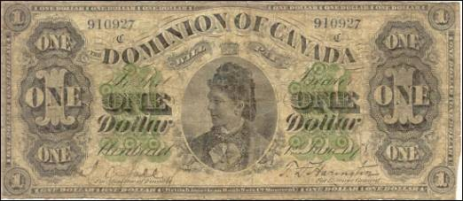 Dominion of Canada Notes - $1 Notes