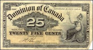 Dominion of Canada Notes - $0.25 Notes